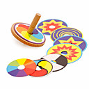 cheap Toy Gliders-Spinning Top Office Desk Toys Stress and Anxiety Relief Wooden Vintage Pieces Kid's Gift