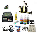 cheap Starter Tattoo Kits-Tattoo Machine Starter Kit - 1 pcs Tattoo Machines with 1 x 5 ml tattoo inks LCD power supply Case Not Included 1 steel machine liner &