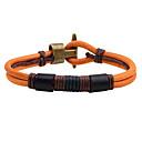 cheap Men's Bracelets-Men's Leather Bracelet - Leather Black, Brown