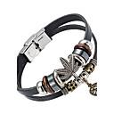 cheap Men's Bracelets-Men's Leather Bracelet - Leather Natural, Fashion Bracelet Black For Special Occasion Gift Sports