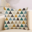 cheap Pillow Covers-1 pcs Cotton / Linen Pillow Cover / Pillow Case, Geometric Pattern / Novelty / Fashion Geometric / Vintage / Casual