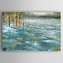 cheap Oil Paintings-Oil Painting Hand Painted - Landscape Abstract / Traditional Stretched Canvas / Rolled Canvas