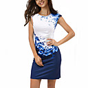 cheap Smartwatches-Women's Plus Size Boho Sheath Dress - Floral / Color Block Print / Summer / Slim