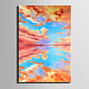 cheap Abstract Paintings-Oil Painting Hand Painted - Landscape Retro Canvas