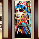 cheap Stretched Canvas Prints-Print Rolled Canvas Prints - Abstract Modern Three Panels