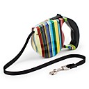 cheap Dog Collars, Harnesses & Leashes-Cat Dog Leash Portable Safety Adjustable Rainbow Flower/Floral Nylon ABS White Black Blue Rainbow