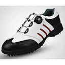 cheap Golf Shoes-Men's Golf Shoes Vibram Golf, Adjustable / Retractable, Soft Full-grain Leather Black and White