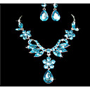 cheap Jewelry Sets-Women's Jewelry Set - Flower Include Purple / Blue For Wedding Party Special Occasion / Anniversary / Birthday