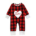 cheap Baby Girls' One-Piece-Baby Girls' Check Plaid / Check Long Sleeve Cotton Overall & Jumpsuit / Toddler