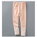 cheap Girls' Clothing Sets-Girls' Solid Pants, Cotton Winter Spring Lace Orange Gray Yellow