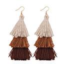 cheap Earrings-Women's Tassel Long Drop Earrings - Tassel, Vintage, Bohemian Blue / Pink / Khaki For Wedding Anniversary Housewarming
