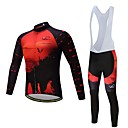 cheap Cycling Jersey & Shorts / Pants Sets-Long Sleeve Cycling Jersey with Bib Tights Bike Clothing Suit, Quick Dry Polyester, Spandex, Silicon / Lycra
