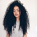 baratos Perucas Sintéticas com Renda-Perucas Lace Front Sintéticas Kinky Curly Cabelo Sintético Marrom Peruca Mulheres Longo Frente de Malha