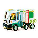 olcso Fából készült építőjátékok-Robotime Játékautók 3D építőjátékok Fejtörő Wood Model Truck DIY Fa Klasszikus Munkagépek Gyermek Felnőttek Uniszex Ajándék
