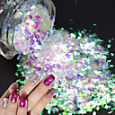 cheap Rhinestone & Decorations-1 pcs Sequins / Nail Glitter Sparkle & Shine / Laser Holographic Nail Art Design