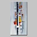 olcso Absztrakt festmények-Hang festett olajfestmény Kézzel festett - Absztrakt Absztrakt Modern Anélkül, belső keret