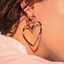 billige Mode Øreringe-Dame Dråbeøreringe - Hjerte Mode, Euro-Amerikansk Guld / Sølv / Rose Guld Til Daglig / Afslappet