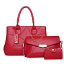 baratos Conjunto de Bolsas-Mulheres Bolsas PU Conjuntos de saco Ziper Vermelho / Cinzento / Roxo