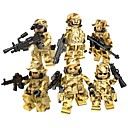 cheap Building Blocks-DILONG Building Blocks Military Blocks Block Minifigures Military Soldier War II compatible Legoing Unisex Toy Gift / Educational Toy