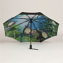 tanie Parasol przeciwdeszczowy / przeciwsłoneczny-Plastik Męskie / Damskie / Dla chłopców Słoneczne i deszczowe Parasolka Składana