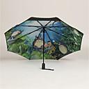 billige Paraply/parasoll-Plast Herre / Dame / Gutt Sol & Regn Sammenfoldet paraply