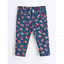 cheap LED Spot Lights-Girls' Floral Pants, Cotton Spring Fall Blue