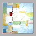 baratos Pinturas Abstratas-Pintura a Óleo Pintados à mão - Abstrato Abstracto / Estilo Moderno Incluir moldura interna / Lona esticada