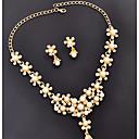 זול ביריות לחתונה-בגדי ריקוד נשים דמוי פנינה פרחוני סט תכשיטים - פרחוני תליון קלסי בסיסי בריטי עשה-זאת-בעצמך Euramerican אופנתי סגנון מינימליסטי פרח זהב