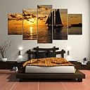 cheap Stretched Canvas Prints-Stretched Canvas Print Abstract, Five Panels Canvas Horizontal Print Wall Decor Home Decoration