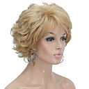 cheap Synthetic Capless Wigs-Synthetic Wig Curly Blonde Layered Haircut Synthetic Hair Blonde Wig Women's Short Capless