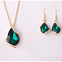 cheap Jewelry Sets-Women's Jewelry Set - Drop Include White / Green / Blue For Wedding / Party / Special Occasion / Anniversary / Birthday