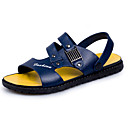 cheap Bag Sets-Men's PU(Polyurethane) Summer Comfort Sandals Black / Blue / Dark Brown