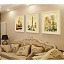 זול אומנות ממוסגרת-סט ממוסגר L ו-scape ציור שמן וול ארט, PVC חוֹמֶר עם מסגרת קישוט הבית אמנות מסגרת חדר שינה