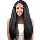 cheap Human Hair Wigs-Remy Human Hair Glueless Lace Front Lace Front Wig Brazilian Hair Straight kinky Straight Wig 130% 150% Density with Baby Hair Natural Hairline African American Wig 100% Hand Tied Women's Short