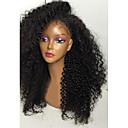 olcso Emberi hajból készült parókák-Emberi haj Csipke korona, szőtt / Csipke Paróka Kinky Curly Paróka 150% Természetes hajszálvonal / Afro-amerikai paróka / 100% kézi csomózású Női Rövid / Közepes / Hosszú Emberi hajból készült parókák