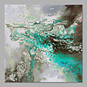 cheap Abstract Paintings-Oil Painting Hand Painted - Abstract Beach Style Stretched Canvas
