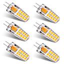 cheap LED Bi-pin Lights-BRELONG® 6pcs 3W 300lm G4 LED Bi-pin Lights T 20 LED Beads SMD 2835 Warm White White 12V