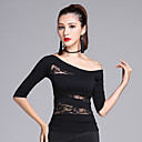cheap Latin Dance Wear-Latin Dance Tops Women's Training Modal Lace Half Sleeves Top