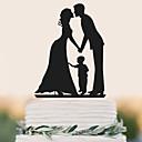 halpa Kakkukoristeet-Kakkukoristeet Birthday Wedding Korkealaatuinen Muovi Häät Syntymäpäivä kanssa 1 PVC pussi