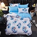 billige Blomstrete dynetrekk-Sengesett Dyr 4 deler Polyester/Bomull Reaktivt Trykk Polyester/Bomull (Hvis Tvillinge-størrelse, kun en putevar)