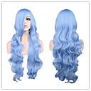 preiswerte Lolita Perücken-Synthetische Perücken Große Wellen Synthetische Haare Blau Perücke Damen Lang Kappenlos