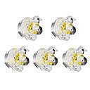 olcso Szintetikus parókák-1 W LED Tompítható LED mélysugárzók Meleg fehér 220 V
