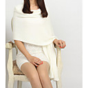 abordables Velos de Boda-Mujer Imitación Cashmere Rectángulo Un Color / Otoño / Invierno