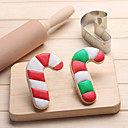 cheap Cookie Tools-Christmas Candy Cane Cookies Cutter Stainless Steel Biscuit Cake Mold Kitchen Baking Tools