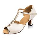 olcso Latin cipők-Női Latin cipők Selyem Szandál / Sportcipő Csat Alacsony Személyre szabható Dance Shoes Meztelen / Bőr / Professzionális
