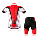 cheap Rubik's Cubes-WOSAWE Short Sleeve Cycling Jersey with Shorts - Red Bike Clothing Suit, Reflective Strips Polyester, Spandex Classic / Stretchy