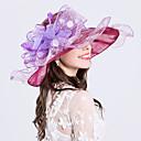 cheap Party Headpieces-Feather Silk Organza Fascinators Hats Headpiece