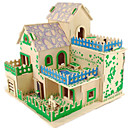 cheap Models & Model Kits-3D Puzzle Jigsaw Puzzle Wood Model Model Building Kit Famous buildings House DIY Wood Classic Unisex Gift