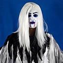 billige Anime Cosplay Tilbehør-Fryktelig toothy hvit langt hår spøkelse ansikt latex myk maske halloween fest prop kostyme mus