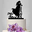 cheap Cake Toppers-Cake Topper Classic Theme / Wedding Classic Couple Plastic Wedding with 1 pcs Poly Bag
